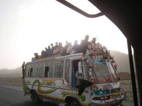 Bus with many people