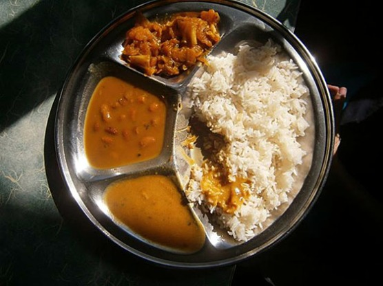 4.1. Other kind of typical lunch, Rice, coli flower curry, red beans and lentils