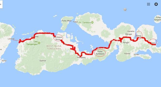 map sumbawa
