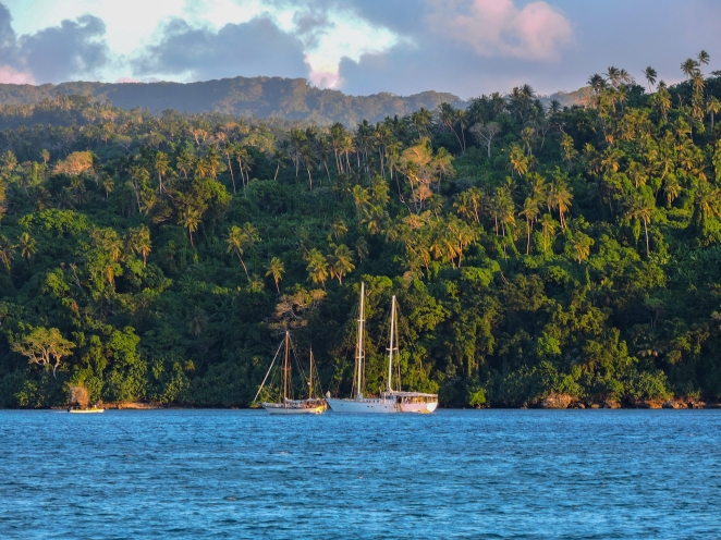3. Anchorage at one of the Vanuatu islands