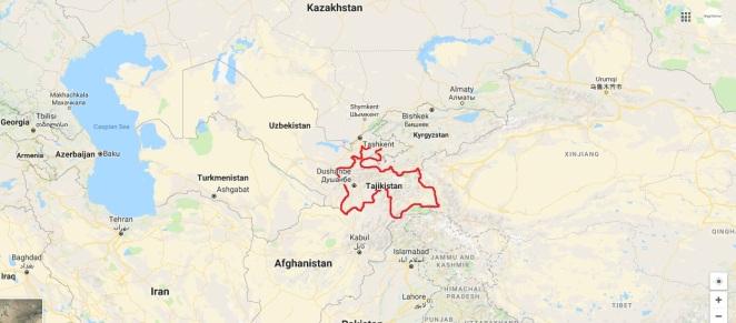map Tajikistan